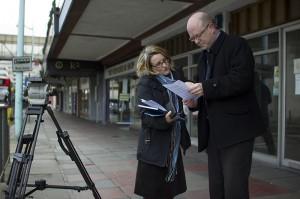 Outset advisor Gregg Harding prepares to be interviewed.